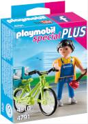 Playmobil 4791 Handwerker mit Fahrrad