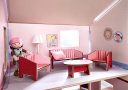 Haba Little Friends - Puppenhaus-Möbel Wohnzi