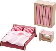 HABA Little Friends  Puppenhaus-Möbel Schlafzimmer für Erwachsene