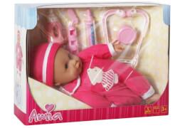 Amia Doktor-Puppe mit Zubehör, Größe ca. 33 cm, 5-teilig, Packmaß ca. 33x9.5x25.5 cm, ab 3 Jahren