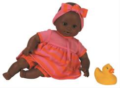 Badepuppe Mädchen farbig 30cm