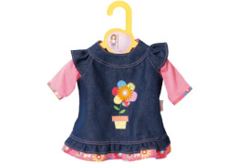 Zapf BABY born® Kleider Kollektion Dolly Moda Jeanskleid, Größe 30-36cm, ab 1 Jahr