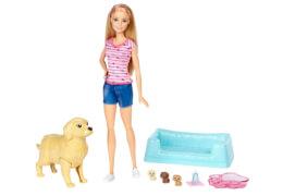 Mattel Barbie - Hundemama, Welpen & Puppe