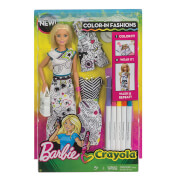 Mattel Barbie loves Crayola Farbspaß Mode Puppe