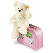 Steiff Teddybär Lotte, weiß mit Koffer, 28 cm