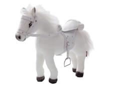 Götz 3401485 Pferd mit Sattel/Zaumzeug, weiß, ca. 50cm
