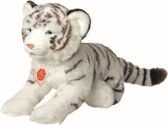 Teddy Hermann Tiger liegend, weiß, 40 cm