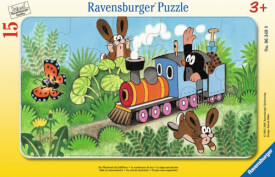Ravensburger 06349 Rahmenpuzzle Der Maulwurf als Lokführer 15 Teile