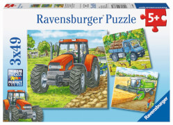 Ravensburger 09388 Puzzle Große Landmaschinen 3 x 49 Teile