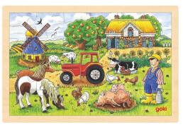 GoKi Einlegepuzzle Müllers Farm