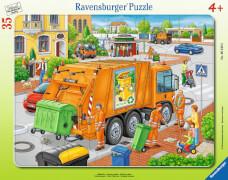 Ravensburger 06346 Rahmenpuzzle Müllabfuhr 35 Teile