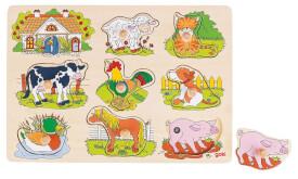 GoKi Soundpuzzle Bauernhof, mit Tierstimmen,
