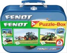 Schmidt Spiele Puzzle Fendt im Metallkoffer 2 x 26 Teile, 2 x 48 Teile