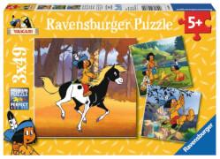 Ravensburger 93892 Puzzle Yakari unterwegs, 3x49 Teile