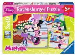 Ravensburger 94165  Puzzle Hübsche Minnie Mouse 3 x 49 Teile