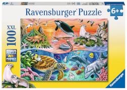 Ravensburger 10681 Puzzle Bunter Ozean 100 Teile