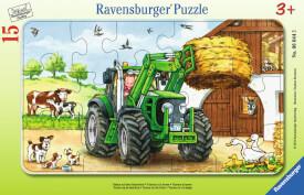 Ravensburger 06044 Rahmenpuzzle Traktor auf dem Bauernhof 15 Teile