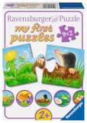 Ravensburger 07313 Puzzle Tiere im Garten 2, 4, 6, 8 Teile