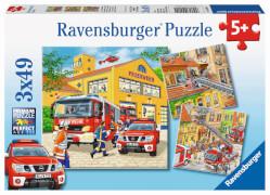 Ravensburger 09401 Puzzle Feuerwehreinsatz 3 x 49 Teile