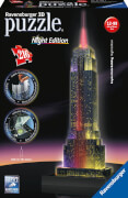 Ravensburger 12566 Puzzle 3D Empire State Building Night Edition 216 Teile