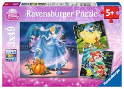 Ravensburger 09339 Puzzle Schneewittchen, Aschenputtel, Arielle 3 x 49 Teile