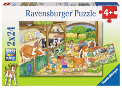 Ravensburger 09195 Puzzle Fröhliches Landleben 2 x 24 Teile