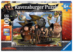 Ravensburger 10549 Puzzle Dreamworks Dragons Ohnezahn & seine Freunde 100 T.
