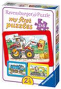 Ravensburger 06573 My first Puzzle Bagger, Traktor und Kipplader 3 x 6 Teile
