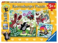 Ravensburger 92093 Puzzle Unterwegs mit dem Maulwurf, 3x49 Teile