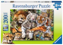 Ravensburger 12721 Puzzle Schmusende Raubkatzen 200 Teile