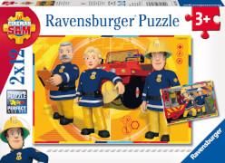 Ravensburger 07584 Feuerwehrmann Sam im Einsatz 2 x 12 Teile