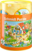 Schmidt Spiele Bauernhof, Puzzle 60 Teile in der Spardose