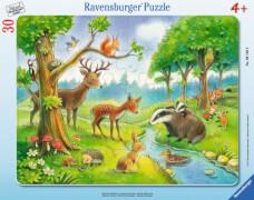 Ravensburger 061389 Rahmenpuzzle: Heimische Waldtiere 30 Teile