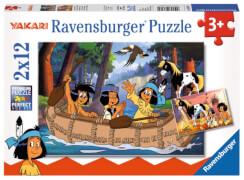 Ravensburger 076079 Kinderpuzzle: Yakaris Abenteuer 2 x 12 Teile