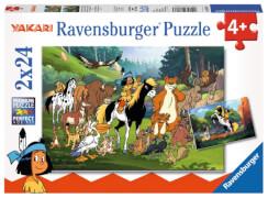 Ravensburger 078073 Kinderpuzzle: Yakaris tierische Freunde 2 x 24 Teile