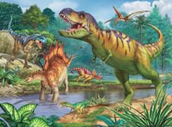 Ravensburger 13695 Puzzle Welt der Dinosaurier 200 Teile