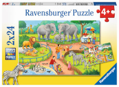 Ravensburger 07813 Puzzle Zoo 2x24 Teile
