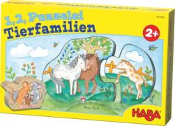 HABA 1, 2, Puzzelei  Tierfamilien