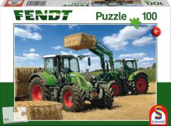 Schmidt Puzzle 56256 Fendt 724 Vario und 716 Vario mit Frontlader Cargo, 100 Teile, ab 6 Jahre