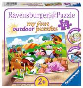 Ravensburger 05609 Puzzle: Liebe Bauernhoftiere 12 Teile