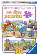 Ravensburger 06946 Puzzle: Meine liebsten Baustellenfahrzeuge 8 Teile