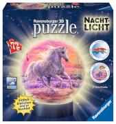 Ravensburger 11843 Puzzleball Pferde am Strand, Nachtlicht 72 Teile