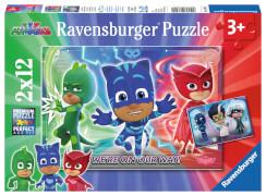 Ravensburger 07622 Puzzle: PJ Masks Gut gegen Böse 2 x 12 Teile