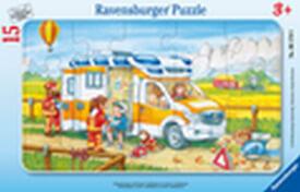 Ravensburger 06170 Rahmenpuzzle Krankenwagen im Einsatz 15 Teile
