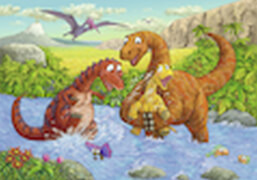 Ravensburger 05030 Puzzle: Spielende Dinos 2x24 Teile