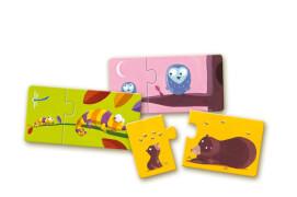 Lernspiel - Puzzle duo/trio: Mami & Kinde