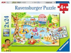 Ravensburger 05057 Puzzle Freizeit am See 2x20/2x24 Teile