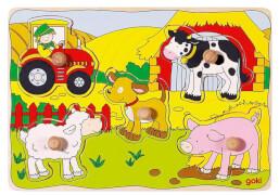 GoKi Steckpuzzle Auf dem Bauernhof