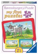 Ravensburger 61341 My first puzzle: Esel, Schaf und Ziege, 3x6 Teile