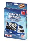 Jumbo 12763 Travel Chess & Checkers